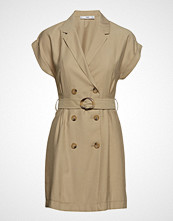 Mango Belt Lapels Dress Kort Kjole Beige MANGO
