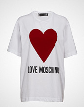 Love Moschino W4f8721m3517 T-shirts & Tops Short-sleeved Hvit LOVE MOSCHINO
