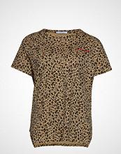 Violeta by Mango Leopard-Print T-Shirt T-shirts & Tops Short-sleeved Brun VIOLETA BY MANGO