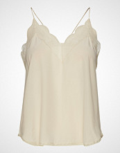 Zadig & Voltaire Christy Cdc Caraco With A Scoop Neckline Bluse Ermeløs Creme ZADIG & VOLTAIRE
