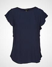 Banana Republic Ss Mariner Button Flutter Sleeve Top T-shirts & Tops Short-sleeved Blå BANANA REPUBLIC