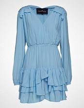 Designers Remix Nini Ruffle Dress Kort Kjole Blå DESIGNERS REMIX