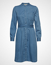 French Connection Leondra Lyocell Belted Shirt Dress Knelang Kjole Blå FRENCH CONNECTION