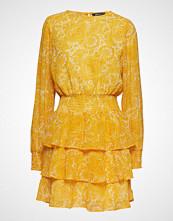 Gina Tricot Ava Chiffon Dress Kort Kjole Gul GINA TRICOT
