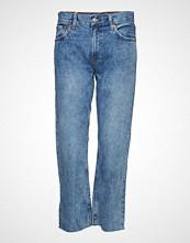 Mango Sayana Straight Jeans Slim Jeans Blå MANGO
