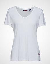 Superdry Burnout Vee Tee T-shirts & Tops Short-sleeved Hvit SUPERDRY