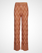 Second Female Bea Knit Trousers Vide Bukser Oransje SECOND FEMALE