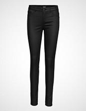 Soaked in Luxury Leia Coated Jeggings Skinny Jeans Svart SOAKED IN LUXURY