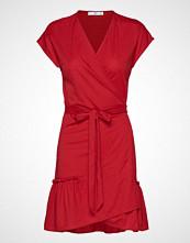 Mango Bow Wrap Dress Knelang Kjole Rød MANGO