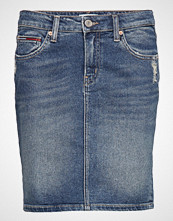 Tommy Jeans Regular Denim Skirt, Kort Skjørt Blå TOMMY JEANS