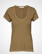 Rag & Bone U Neck Tee T-shirts & Tops Short-sleeved Brun RAG & B