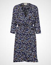 Minus Aviva Wrap Dress Knelang Kjole Blå MINUS
