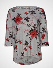 Fransa Fremflower 1 T-Shirt T-shirts & Tops Long-sleeved Grå FRANSA