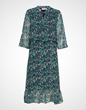 Saint Tropez U6008, Woven Dress Below Knee Knelang Kjole Grønn SAINT TROPEZ