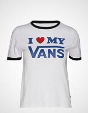 Vans Vans Love Ringer T-shirts & Tops Short-sleeved Hvit VANS