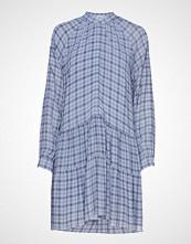 Envii Ensoho Ls Dress Aop 6622 Knelang Kjole Blå ENVII