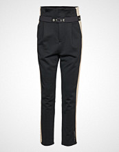 Scotch & Soda Club Nomade High Waisted Jogger Bukser Med Rette Ben Svart SCOTCH & SODA