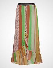 Coster Copenhagen Skirt W. Frills In Stroke Print W. Langt Skjørt Multi/mønstret COSTER COPENHAGEN