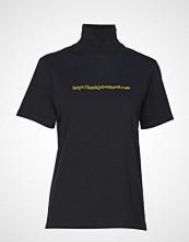 HAN Kjøbenhavn Collar Tee T-shirts & Tops Short-sleeved Svart HAN KJØBENHAVN