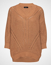 Soaked in Luxury Sl Oceane Rodeo Pullover 3/4 Strikket Genser Brun SOAKED IN LUXURY