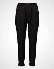 Pulz Jeans Samantha Loose Pant Bukser Med Rette Ben Svart PULZ JEANS