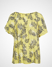 Zizzi Vviga, S/S, Blouse T-shirts & Tops Short-sleeved Gul ZIZZI