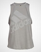 Adidas Performance Bos Logo Tank T-shirts & Tops Sleeveless Grå ADIDAS PERFORMANCE