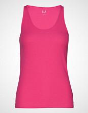 GAP Sl Flat Bk Rib Tk T-shirts & Tops Sleeveless Rosa GAP