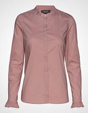 Mos Mosh Mattie Fine Stripe Shirt Langermet Skjorte Rosa MOS MOSH