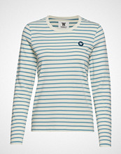 Wood Wood Moa Long Sleeve T-shirts & Tops Long-sleeved Hvit WOOD WOOD