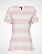 Gant O2. Barstriped Top T-shirts & Tops Short-sleeved Rosa GANT