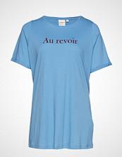 Junarose Jrrevoir Ss T-Shirt - S T-shirts & Tops Short-sleeved Blå JUNAROSE