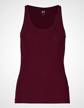 GAP Sl Flat Bk Rib Tk T-shirts & Tops Sleeveless Rød GAP
