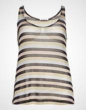 Violeta by Mango Metallic Striped Top T-shirts & Tops Sleeveless Multi/mønstret VIOLETA BY MANGO