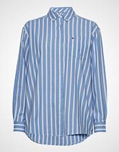 Tommy Jeans Tjw Washed Multistri Langermet Skjorte Blå TOMMY JEANS