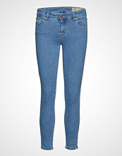 Diesel Women Slandy-Zip Trousers Skinny Jeans Blå DIESEL WOMEN