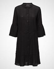 Stella Nova Special Cotton Weaving Knelang Kjole Svart STELLA NOVA