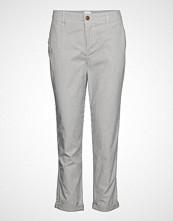 GAP V-Girlfriend Khaki Stripe Bukser Med Rette Ben Blå GAP