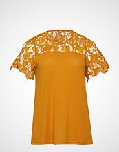 Zizzi Mjulian, S/S, Top T-shirts & Tops Short-sleeved Gul ZIZZI
