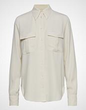Calvin Klein Smooth Twill Police Pkt Shirt Ls Langermet Skjorte Creme CALVIN KLEIN