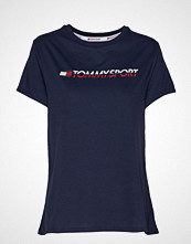 Tommy Sport Tee Logo Co/Ea T-shirts & Tops Short-sleeved Blå TOMMY SPORT