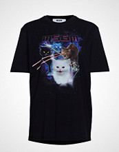 MSGM Space Cats T-Shirt T-shirts & Tops Short-sleeved Svart MSGM