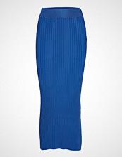 Yas Yasrib Hw Knit Ankle Skirt Knelangt Skjørt Blå YAS