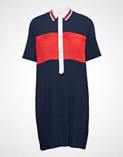 Tommy Hilfiger Frances Dress Ss, 40 Knelang Kjole Blå TOMMY HILFIGER