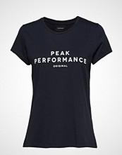 Peak Performance W Orig Tee T-shirts & Tops Short-sleeved Blå PEAK PERFORMANCE