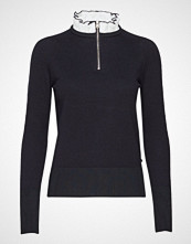 Scotch & Soda Knit With Feminine Woven Collar Høyhalset Pologenser Svart SCOTCH & SODA