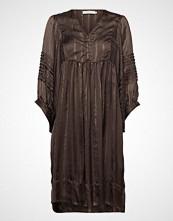 Rabens Saloner Lurex Stripe Ls Short Dress Kort Kjole Svart RABENS SAL R