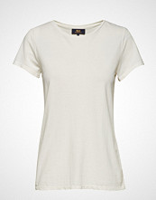 WACAY Calathea Tee T-shirts & Tops Short-sleeved Creme WACAY