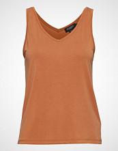 Soaked in Luxury Sl Columbine Tank Top T-shirts & Tops Sleeveless Oransje SOAKED IN LUXURY