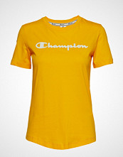 Cènnìs Crewneck T-Shirt T-shirts & Tops Short-sleeved Gul CHAMPION